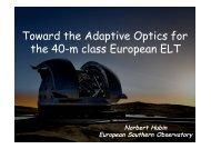 Toward the Adaptive Optics for the 40-m class European ... - AO4ELT 2
