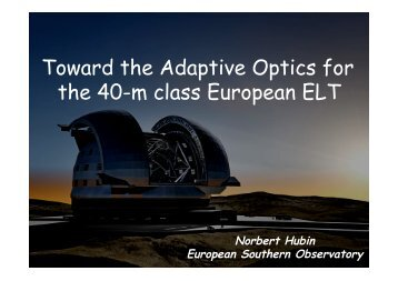 Toward the Adaptive Optics for the 40-m class European ... - AO4ELT 2