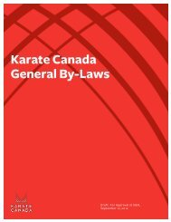 detailed version of these proposed Bylaw changes - Karate Canada