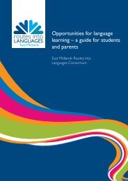 Opportunities for language learning – a guide for students and parents