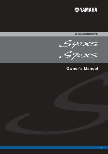 S90 XS/S70 XS Owner's Manual - zZounds.com