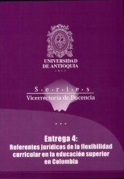 educación superior en Colombia - Vicerrectoría de Docencia