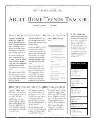 Adult Home Trends Tracker (Fall 2011) - MFY Legal Services