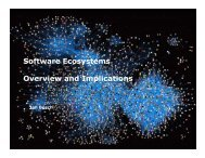Software Ecosystems Overview and Implications