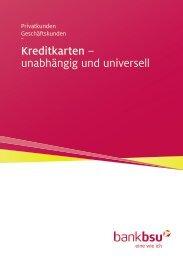 Kreditkarten – unabhängig und universell - Bank BSU