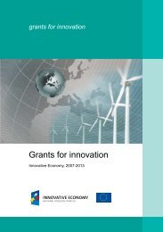 Grants for innovation - Fundusze Strukturalne