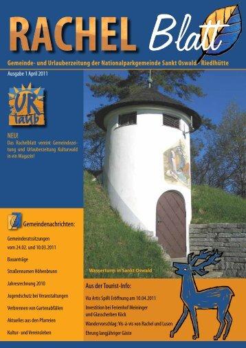 Gemeinde- und Urlauberzeitung der ... - St. Oswald - Riedlhütte