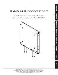 TV Wall Mounts 低側面ウォールマウント - VMFL1 - Sanus