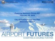 City Land Use Plan - PDX Airport Futures