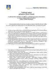 Vnútorný pokyn primátora mesta k aplikácii zákona ... - Mesto Trstená