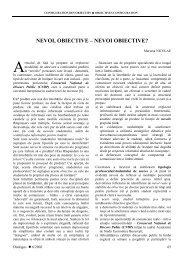 nevoi, obiective – nevoi obiective? - Catedra de Limbi Romanice