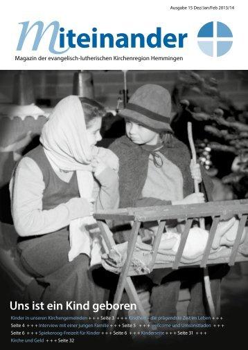 miteinander15 Dez. 2013 / Jan/Feb 2014 - miteinander Hemmingen