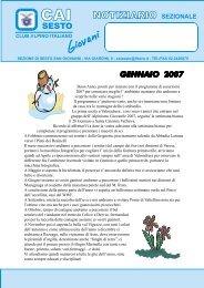 GENNAIO 2007.pmd - CAI - sezione di Sesto San Giovanni