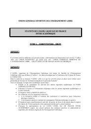 UNION GENERALE SPORTIVE DE L ... - UGSEL Versailles
