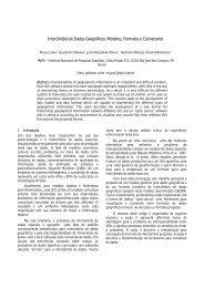 Intercâmbio de Dados Geográficos: Modelos, Formatos ... - DPI - Inpe