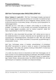 Pressemeddelelse - Mullerup