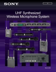 UHF Synthesized Wireless Microphone System