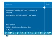DH pres 4 TCP Forum May12 - Ballarat Health Services