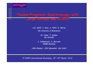 Fission-fragment spectroscopy with large arrays and STEFF