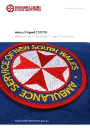 Annual Report - 2007/08 - Ambulance Service of NSW - NSW ...