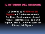 ritorno del Signore - Benvenuto sul sito della Chiesa Cristiana ...