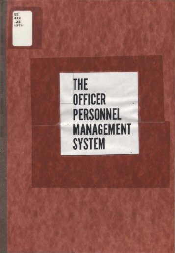 The Officer Personnel Management System - Washington ...