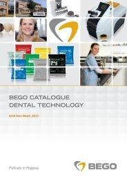 BEGO CATALOGUE DENTAL TECHNOLOGY - Doriot Dent (Ro)