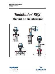 Manuel de maintenance - Rosemount Tank Radar