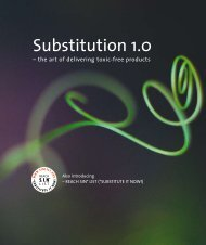 the art of delivering Substitution 1.0 toxic-free products - Envirocentre