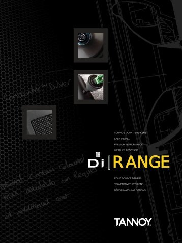 Tannoy Di-Series Loudspeakers brochure - Canford Audio