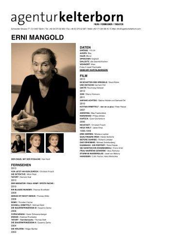 ERNI MANGOLD - Agentur Kelterborn