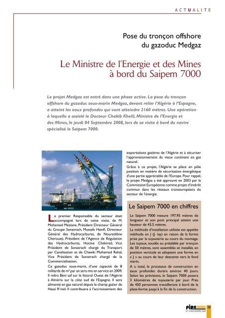Monsieur - Ministère de l'énergie et des mines