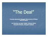 Housing Agreement between Government of ... - Danquah Institute