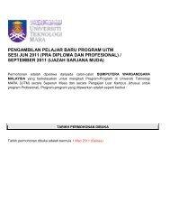PENGAMBILAN PELAJAR BARU PROGRAM UiTM ... - UiTM Johor