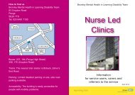 Nurse Led Clinic service user, carer and referrer leaflet