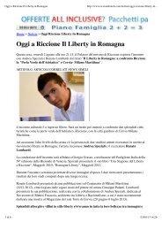 2.8.2013, 'Oggi a Riccione Il Liberty in Romagna' - Andrea Speziali
