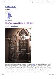 Una Stagione del Liberty a Riccione - Andrea Speziali