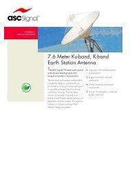 7.6m Earth Station Antenna datasheet - Svs Telekom