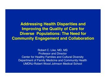 CSU SOCF - Cleveland Health Disparities presentation Dr Like draft ...