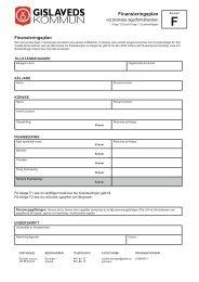 Finansieringsplan andrade agarforhallanden.pdf - Gislaveds kommun