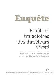 Profils et trajectoires des directeurs sûreté. Résultats d'une ... - Cesdip