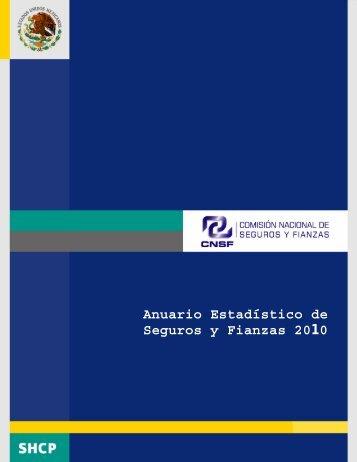 Anuario Estadístico de Seguros y Fianzas 2010 - CNSF