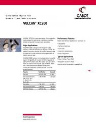 VULCAN® XC200 - Cabot Corporation