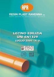 RESIN PLAST RAVENNA SPA - Ismn