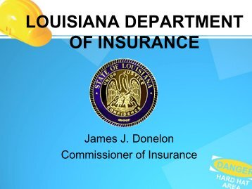 Property and Casualty Form Filing Session - Louisiana Department ...