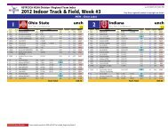 USTFCCCA Regional Track and Field Index -- Team-by-Team