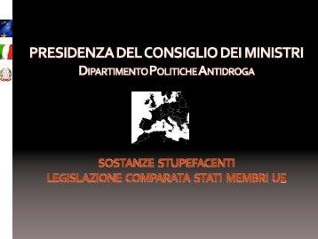 Documento completo - Dipartimento per le politiche antidroga