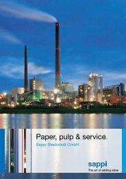 Paper, pulp & service. - Sappi