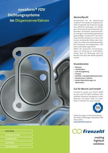 novaform ® FDV - Frenzelit Werke GmbH