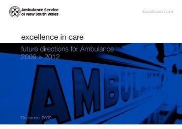 Attachment 1 - Excellence in Care - Ambulance Service of NSW